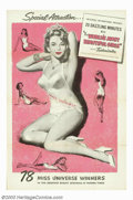 "Movie Posters:Short Subject, The World's Most Beautiful Girls (Universal, 1953). One Sheet(27""X41""). Rare Universal poster for a short subject dealing w..."
