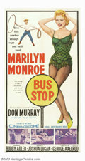 "Movie Posters:Drama, Bus Stop (20th Century Fox, 1956). Three Sheet (41"" X 81""). Aclassic performance by Marilyn Monroe punctuates this light he..."
