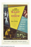 "Movie Posters:Drama, East of Eden (Warner Brothers, 1955). One Sheet (27"" X 41""). This was the debut film that brought James Dean to the attentio..."