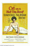 "Movie Posters:Drama, Cat on a Hot Tin Roof (MGM, 1958). One Sheet (27"" X 41""). Elizabeth Taylor's role; as Maggie the Cat, oozes with sensuality ..."
