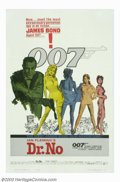 "Movie Posters:Action, Dr. No (United Artists, 1962). One Sheet (27"" X 41). Ian Fleming's master spy James Bond was brought to the silver screen wi..."
