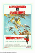 """Movie Posters:Action, You Only Live Twice (United Artists, 1967). One Sheet (27"""" X 41"""") Style B. Sean Connery as James Bond returns to take on the..."""