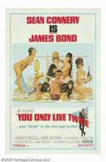 """Movie Posters:Action, You Only Live Twice (United Artists, 1967). One Sheet (27"""" X 41"""") Style B. Sean Connery, as James Bond, is called in to solv..."""