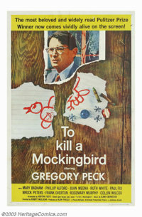 """To Kill a Mockingbird (Universal, 1963). One Sheet (27"""" X 41""""). This film, taken from Harper Lee's depression-..."""