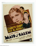 Movie Posters:Miscellaneous, Mini-Window Card Lot (Paramount, 1937). Offered here are twotrimmed mini-window cards. Maid of Salem (Paramount, 1937) and ...(Total: 2 Movie Posters Item)