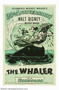 "Movie Posters:Animated, Mickey Mouse in The Whaler (RKO, R-1953). One Sheet (27"" X 41""). Tocelebrate Mickey Mouse's 25th anniversary, Disney re-rel..."