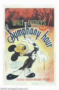 "Movie Posters:Animated, Symphony Hour (RKO, 1942). One Sheet (27"" X 41""). This is one ofthe outstanding Mickey Mouse posters from one of his better..."