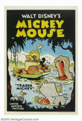 Movie Posters:Animated, Trader Mickey (United Artists, 1932). In the summer of 1932, Disneychanged distributors of his cartoon shorts from Columbia...