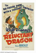 "Movie Posters:Animated, Reluctant Dragon, The (RKO, 1941). One Sheet (27"" X 41""). HumoristRobert Benchley visits the Disney Studios to sell Walt on..."