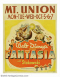 "Movie Posters:Animated, Fantasia (RKO, 1940). Jumbo Window Card (22"" X 28""). Walt Disney'smasterpiece of the 1940s combined seven classical music s..."