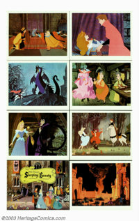 "Sleeping Beauty (Buena Vista, 1959). Cell Proof Prints (8) (11"" X 14""). Disney's stylized telling of this clas..."