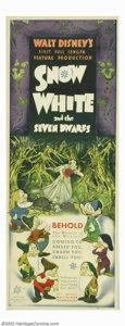 "Movie Posters:Animated, Snow White and the Seven Dwarfs (RKO, 1937). Insert (14"" X 36"").Disney was on the verge of bankruptcy when it made it's fir..."
