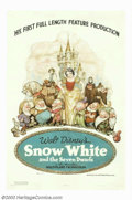 "Movie Posters:Animated, Snow White and the Seven Dwarfs (RKO, 1937). One Sheet (27"" X 41"").The industry was so skeptical when Walt Disney told of h..."