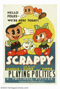 """Movie Posters:Animated, Scrappy and His Pals (Columbia, 1936). One Sheet (27"""" X 41""""). Inthe 1930's Columbia created and produced their own animated..."""