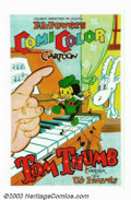 "Movie Posters:Animated, Tom Thumb (Powers ComiColor Cartoons, 1936). One Sheet (27"" X 41"").This is another of the great Ub Iwerks ComiColor shorts...."