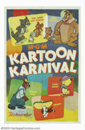 "Movie Posters:Animated, Kartoon Karnival (MGM, 1954). (2) One Sheets (27"" X 41""). Thislovely MGM stock sheet was one of the studio's later efforts ...(Total: 2 Movie Posters Item)"
