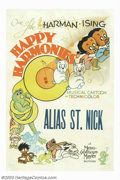"Movie Posters:Animated, Happy Harmonies (MGM, 1935). One Sheet (27"" X 41""). Between 1934and 1938 MGM ran thirty six of the ""Happy Harmonies"" film s..."