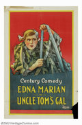 "Movie Posters:Short Subject, Uncle Tom's Gal (Universal, 1925). One Sheet (27"" X 41""). Unknownearly Universal comedy short subject with star Edna Marion..."