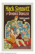 "Movie Posters:Comedy, Divorce Dodger, The (Pathe', 1926). One Sheet (27"" X 41""). BillyBevan, a native Australian, came to America in 1917 and got..."