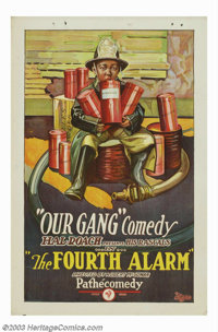 """Fourth Alarm, The (Pathe', 1926). One Sheet (27"""" X 41""""). This stone litho poster was from one of the early sil..."""