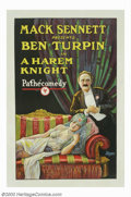 "Movie Posters:Comedy, Harem Knight, A (Pathe', 1926). One Sheet (27"" X 41""). Ben Turpin,the silent cinema's cross-eyed comic, began his career at..."