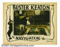 """Navigator, The (Metro Goldwyn Picture, 1924). Lobby Card (11"""" X 14""""). At the request of his star Buster Keaton..."""