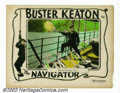 "Movie Posters:Comedy, Navigator, The (Metro Goldwyn Picture, 1924). Lobby Card (11"" x41""). Many Keaton enthusiasts believe that ""The Navigator"" i..."