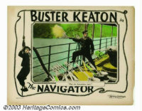 """Navigator, The (Metro Goldwyn Picture, 1924). Lobby Card (11"""" x 41""""). Many Keaton enthusiasts believe that &qu..."""