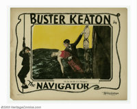 """Navigator, The (Metro Goldwyn Picture, 1924). Lobby Card (11"""" X 14""""). The Navigator turned out to be Buster Ke..."""