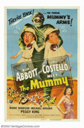 "Movie Posters:Comedy, Abbott and Costello Meet the Mummy (Universal, 1955). One Sheet(27"" X 41""). Though this was Bud and Lou's last meeting with..."