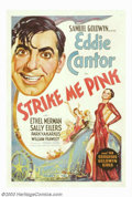 "Movie Posters:Musical, Strike Me Pink (United Artists, 1936). One Sheet (27""X41""). Eddie Cantor and Ethel Merman star in this comedy centered aroun..."