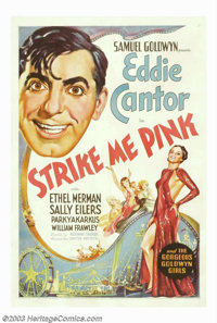 "Strike Me Pink (United Artists, 1936). One Sheet (27""X41""). Eddie Cantor and Ethel Merman star in this comedy..."