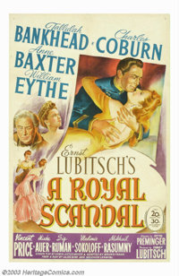 "A Royal Scandal (20th Century Fox, 1945). One Sheet (27""X41). Tallulah Bankhead as Catherine the Great stars in thi..."