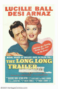 "Movie Posters:Comedy, Long Long Trailer, The (MGM, 1954). One Sheet (27"" X 41""). At theheight of their TV fame, Lucille Ball and Desi Arnaz were ..."