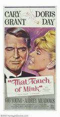 "Movie Posters:Comedy, That Touch of Mink (Universal, 1962). Three Sheet (41"" X 81""). Thissophisticated comedy has wealthy playboy Cary Grant purs..."