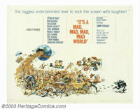 "It's a Mad, Mad, Mad, Mad World (United Artists, 1963). Half Sheet (22"" X 28""). Director Stanley Kramer's fast..."