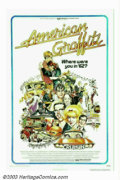 """Movie Posters:Comedy, American Graffiti (Universal, 1973). One Sheet (27"""" X 41""""). GeorgeLucas' homage to his high school days from 1962 became an..."""
