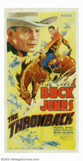 "Movie Posters:Western, Throwback, The (Universal, 1935). Three Sheet (42"" X 81""). Buckreturns home and has to live down the cattle rustling reputa..."
