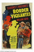 "Movie Posters:Western, Border Vigilantes (Paramount, 1941). One Sheet (27""X41""). HopalongCassidy was one of the all time favorite cowboys of weste..."