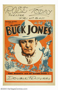 "Movie Posters:Western, Buck Jones Stock Window Card (Universal, 1936). (14"" X 22""). BuckJones was a cowboy star of the first magnitude and made th..."