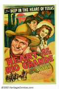 "Movie Posters:Western, Heart of the Rio Grande (Republic, 1942). One sheet (27"" X 41"").Gene Autry sings his famous hit song, ""Deep in the Heart of..."