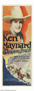 "Movie Posters:Western, Overland Stage, The (First National, 1927). Insert (14"" X 36"").This gorgeous rolled insert is perhaps the best we have ever..."