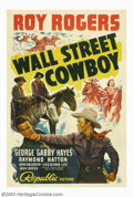 "Movie Posters:Western, Wall Street Cowboy (Republic, 1939). One Sheet (27"" X 41""). EarlyRoy Rogers film in which he battles an evil Wall Street sy..."
