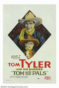 "Movie Posters:Western, Tom and His Pals (Paramount, 1926). One Sheet (27"" X 41""). TomTyler made a series of ""Tom and His Pals"" films for FBO of wh..."