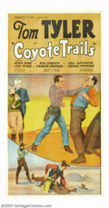 "Movie Posters:Western, Coyote Trails (Reliable Pictures Corp., 1935). Three Sheet (41"" X81""). Tom Tyler, with sidekick Windy (Ben Corbett), bust b..."