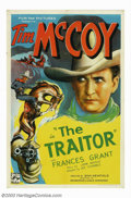 "Movie Posters:Western, Traitor, The (Puritan Pictures, 1936). One Sheet (27"" X 41"").Starting out doing stunt work and small bit parts in the early..."