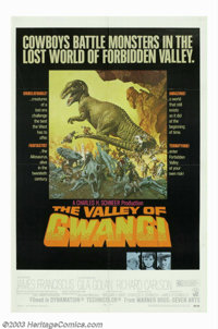 "Valley of the Gwangi (Warner Brothers, 1969). One Sheet (27"" X 41""). Based on the ""King Kong"" story..."