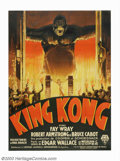 "Movie Posters:Horror, King Kong (RKO, 1933). French (47"" X 63""). Willis O'Brien's titlecreature captivated the world when he was first seen on th..."
