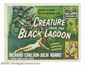 """Movie Posters:Horror, Creature From the Black Lagoon (Universal International, 1954). Half Sheet (22"""" X 28"""") Style A. The tale of a prehistoric gi..."""