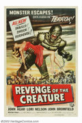 """Movie Posters:Science Fiction, Revenge Of The Creature (Universal, 1955). One Sheet (27"""" X 41""""). The sequel to Universal's """"Creature From The Black Lagoon""""..."""